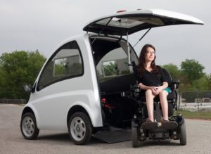Electric Vehicle That Wraps Around a Wheelchair